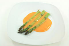 vegetarian, healthy, asparagus, vegetables, fried