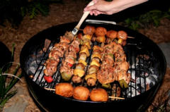 kabobs, food, separate, handle, cross, contamination