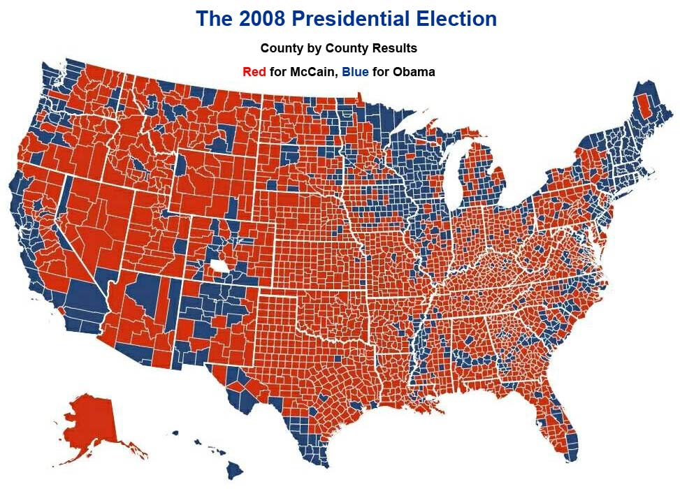 Cotton Production In Vs South Voting In X MapPorn - Us presidential election red blue map